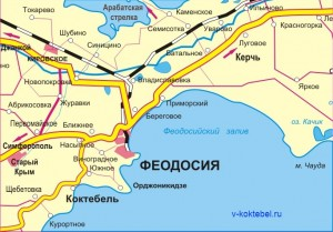 коктебель_карта_побережья
