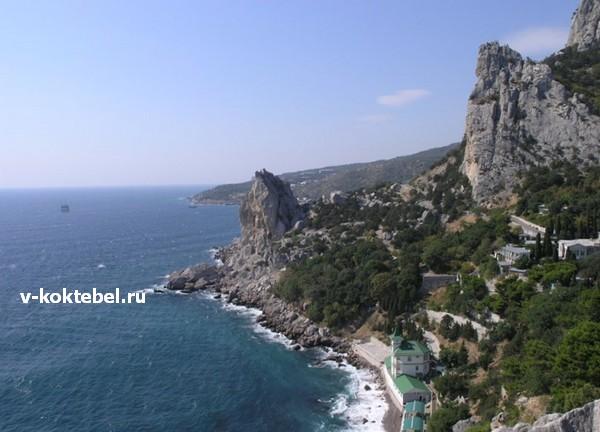 Дикие пляжи Крыма-Симеиз скала Крыло Лебедя