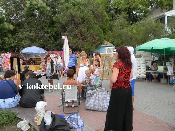 фото-площадь-города-Коктебель-Крым