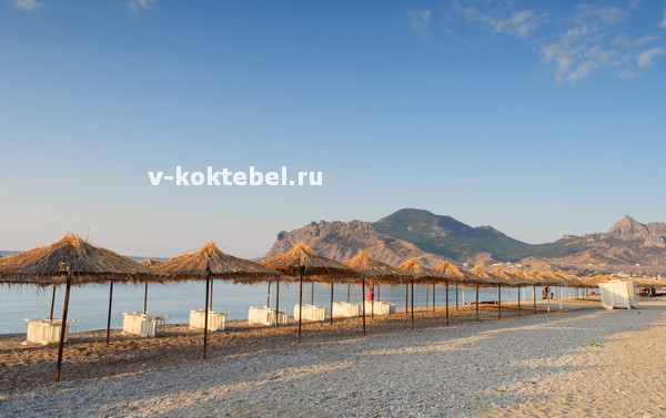 пляжи-поселка-Коктебеля-на-видео