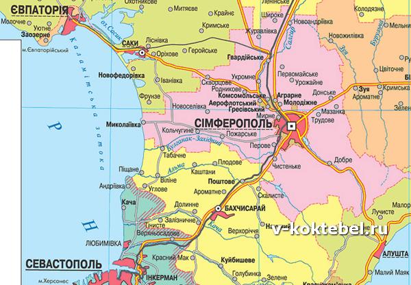 карта-южного-побережья-подробная-в-Крыму