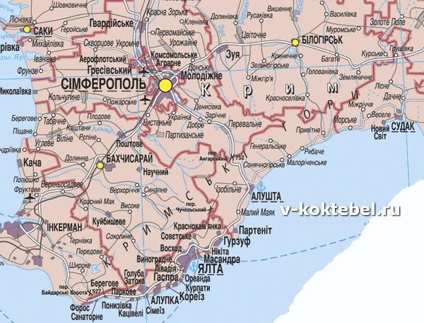 карта-Черноморского-побережья-в-Крыму-Украина