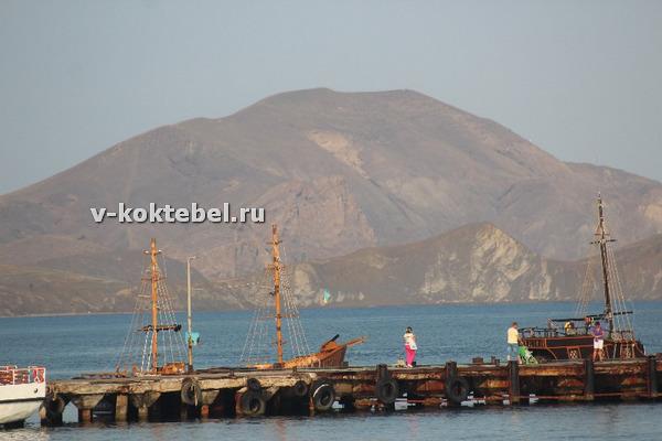 карта-Коктебеля-подробная-с-пансионатами-пирс-поселка-в-Крыму
