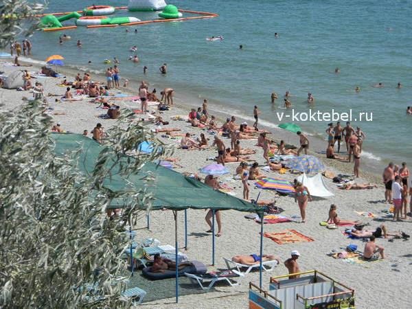 берег Черного моря в Украине Коктебель