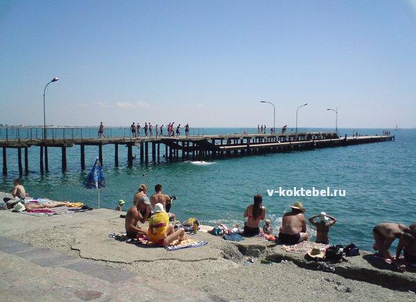 пляж курорта Евпатория