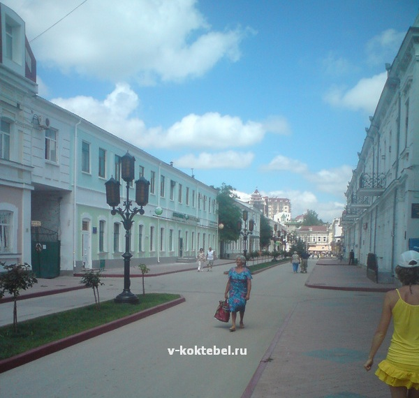 улицы курорта Феодосия