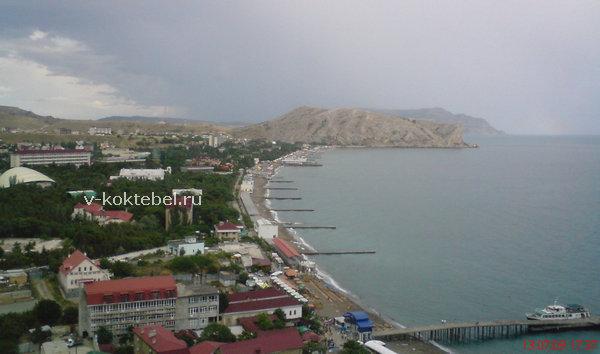 фото вид на город Судак с Генуэзской крепости