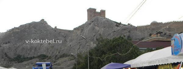 на фото Генуэзская крепость в Крыму